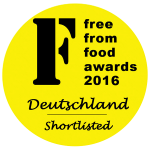 Our shortlisting in the 2016 German Free From Food Awards