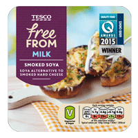 Our Smoked Cheddar Style Sheese as part of the Tesco Free From range