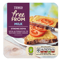 Strong Cheddar Style Sheese as part of the Tesco Free From Range