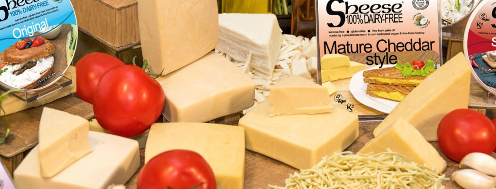 Sheese range of products, ideal for veganism