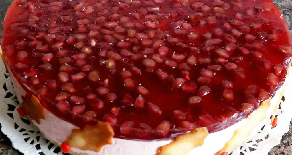 Recipe - Festive Pomegranate Sheesecake