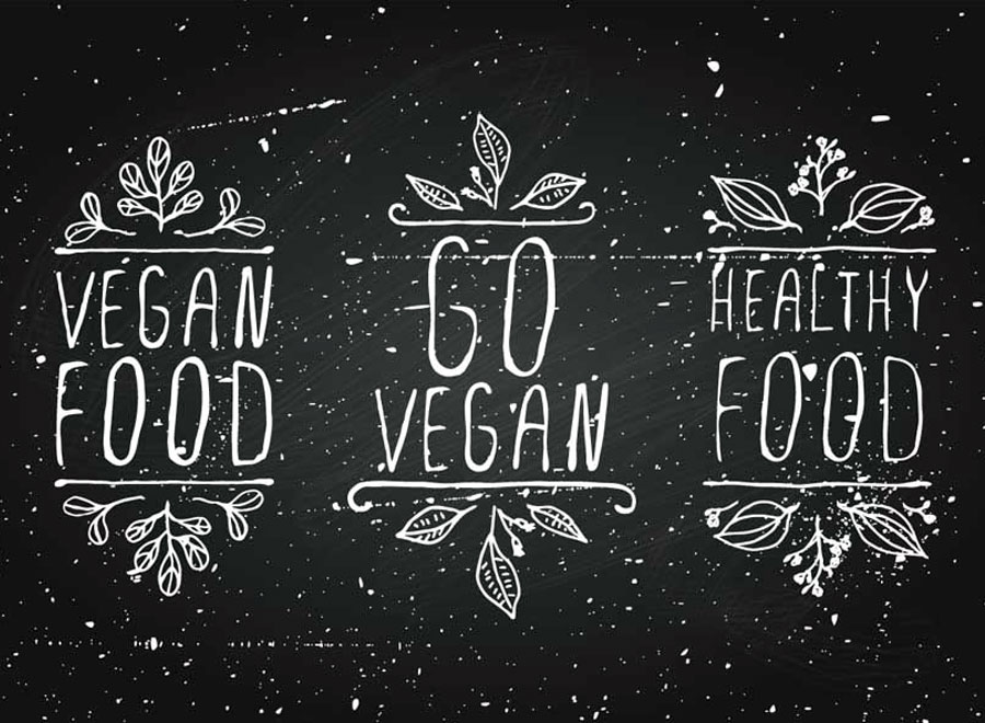 A banner promoting converting to veganism