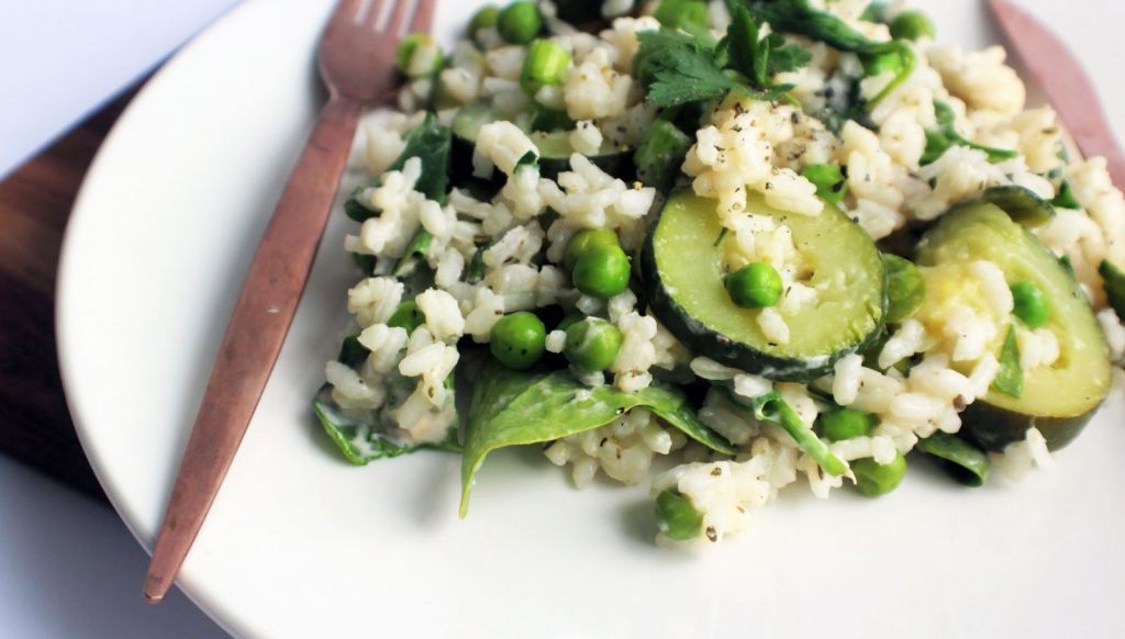 A tasty spring onion risotto made with our Creamy Sheese